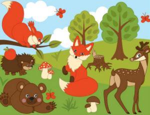 загадки про лесных животных