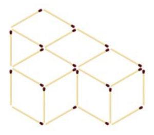 квадраты из спичек