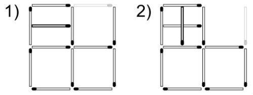 7 квадратов из спичек